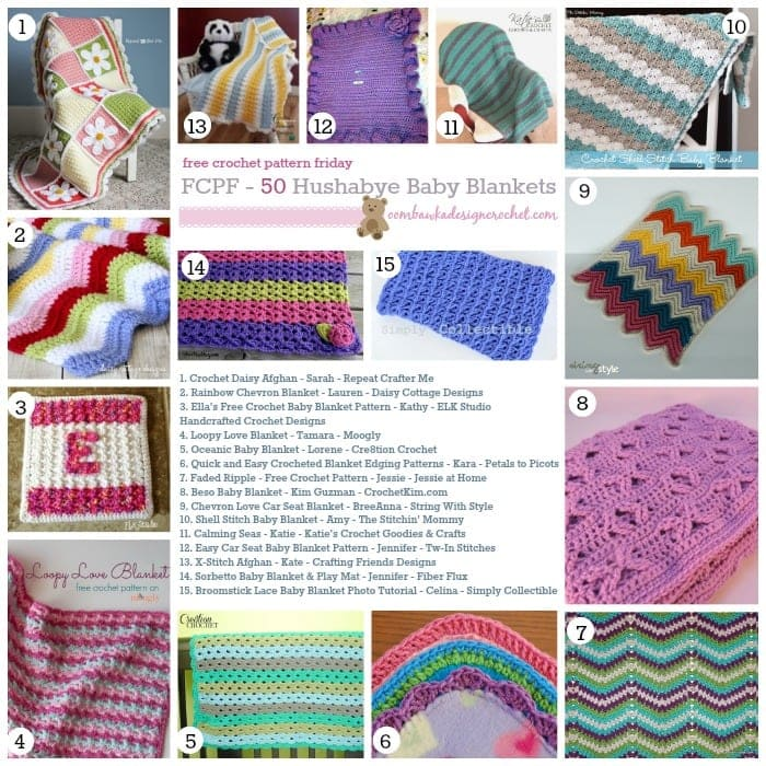 Free Crochet Baby Patterns For Blankets : 50 Free Crochet Baby Blanket Patterns (FCPF) Oombawka ...