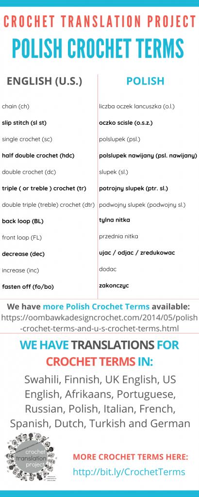 Polish Crochet Terms - Crochet Translation Project