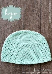 Hope Crochet Hat Pattern. Lightweight Yarn Version. Oombawka Design Crochet.