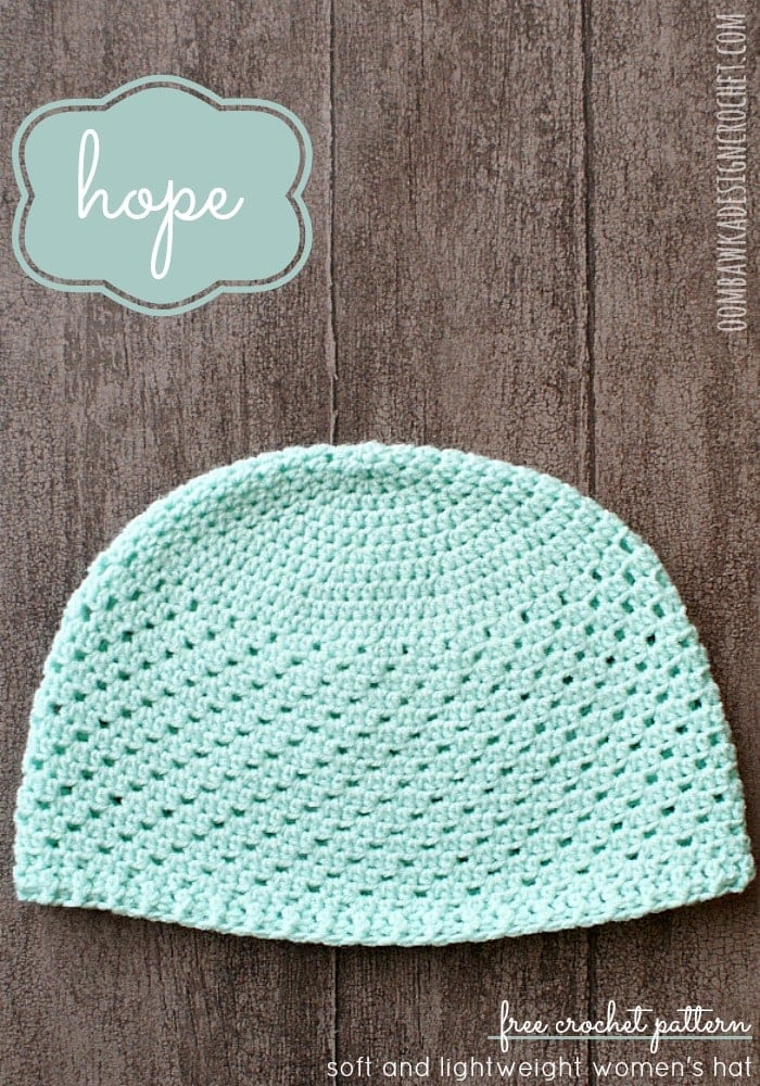 Free Crochet Hat Pattern HOPE