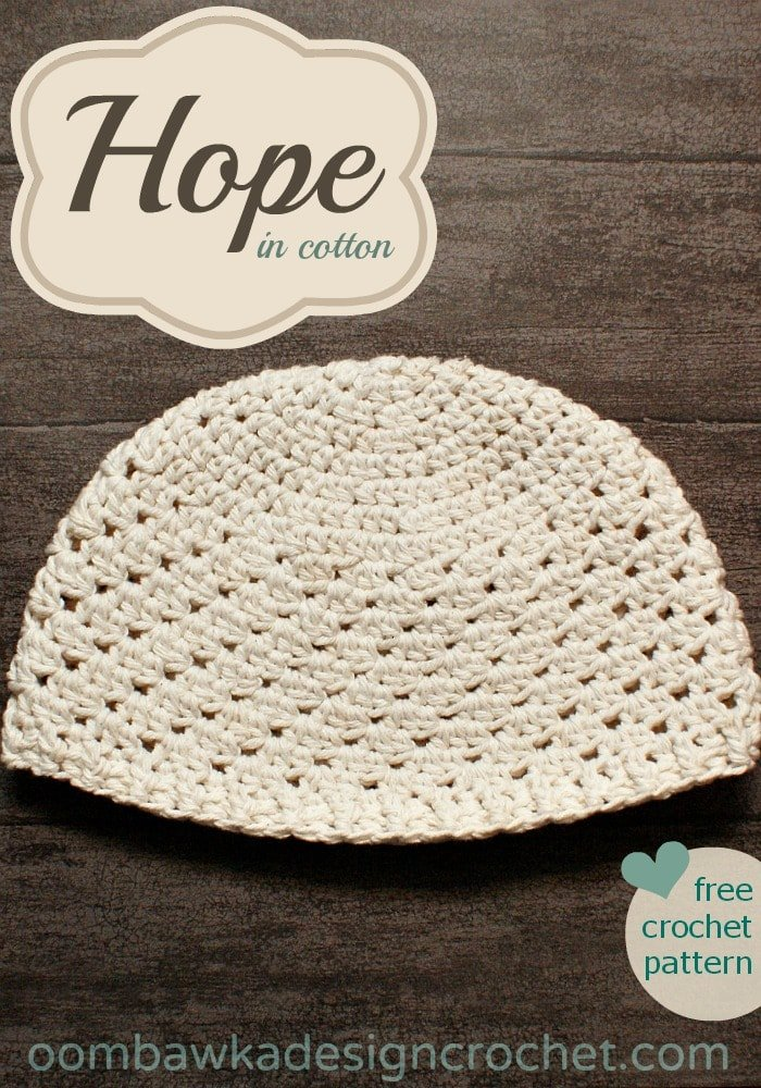 Hope In Cotton Hat Pattern Oombawka Design Crochet Cool Cotton Crochet Patterns