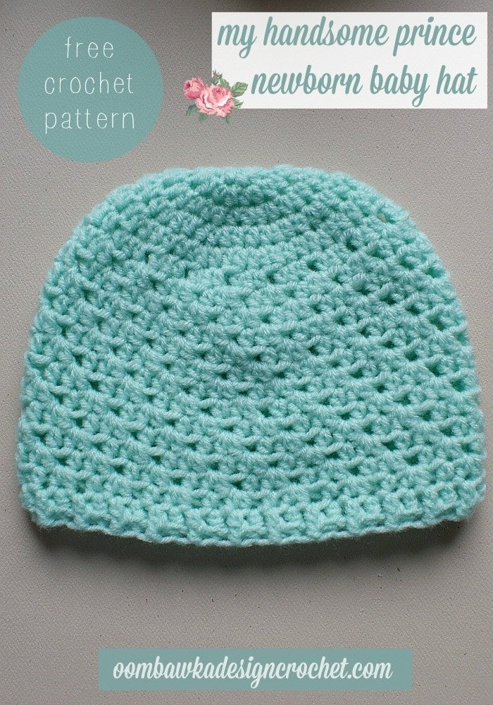 Crochet Newborn Hats : My Handsome Prince Newborn Baby Hat ? Oombawka Design Crochet