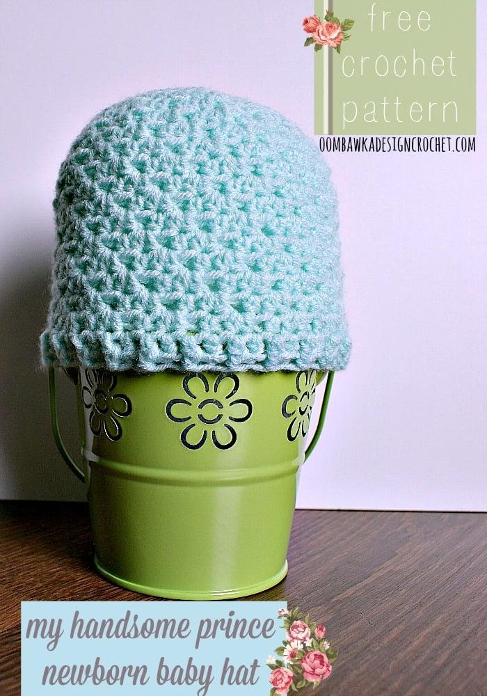 My Handsome Prince Newborn Baby Hat Oombawka Design Crochet