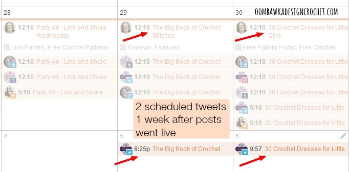 2CoSchedule Calendar ‹ Oombawka Design Crochet — WordPress