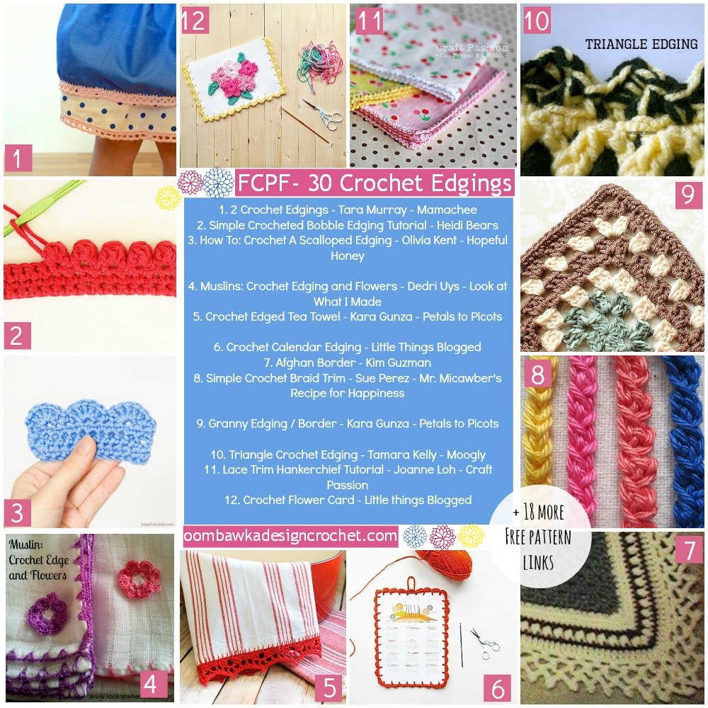 30 Free Crochet Edgings • Oombawka Design Crochet
