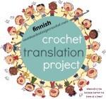 Finnish Crochet Translations. Crochet Translation Project. Oombawka Design Crochet.