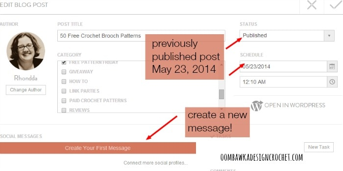 CoSchedule Calendar ‹ Oombawka Design Crochet — WordPress