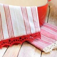 Crocheted Edge Tea Towels