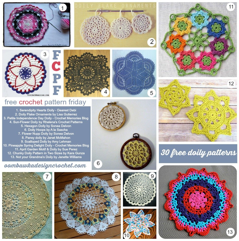 35 Free Crochet Doily Patterns • Oombawka Design Crochet