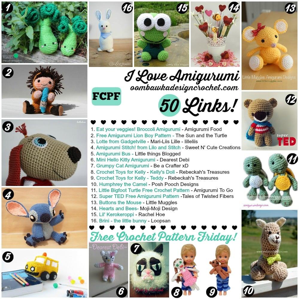 Amigurumi Many : I Love Amigurumi! 50 Links! Oombawka Design Crochet