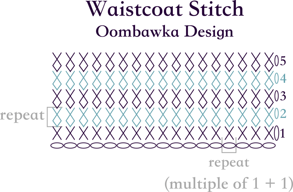 An old crochet stitch done in a new way oombawka design crochet waistcoat stitch diagram oombawka design crochet ccuart Gallery