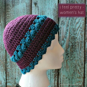 I Feel Pretty Women's Crochet Hat Pattern. Oombawka Design Crochet.