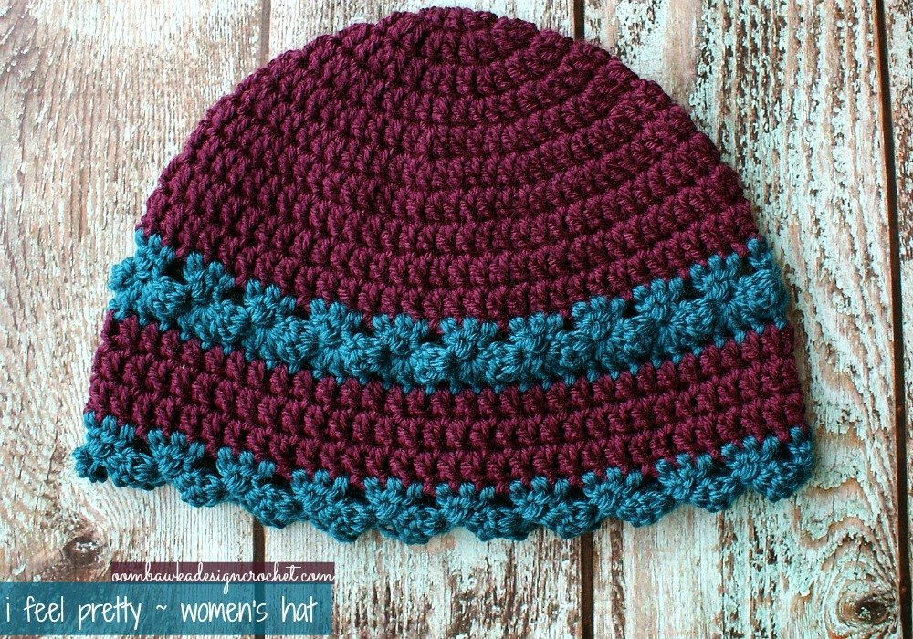 I Feel Pretty Women\'s Crochet Hat Pattern • Oombawka Design Crochet