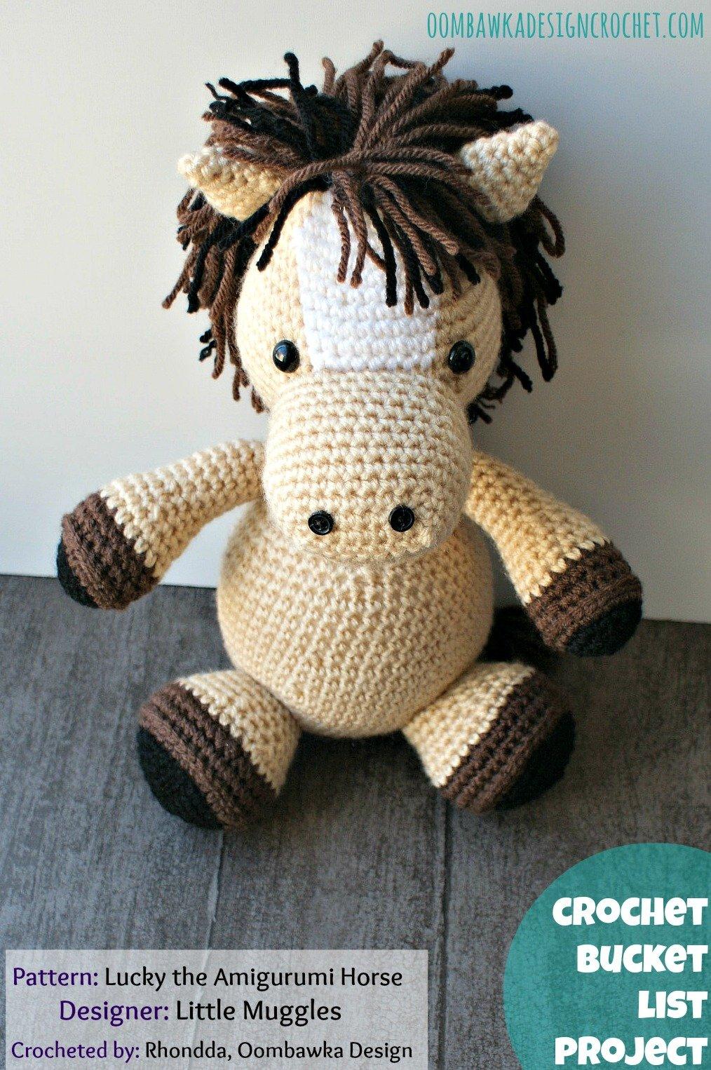 Free Crochet Pattern For Horse : Lucky the Amigurumi Horse Oombawka Design Crochet