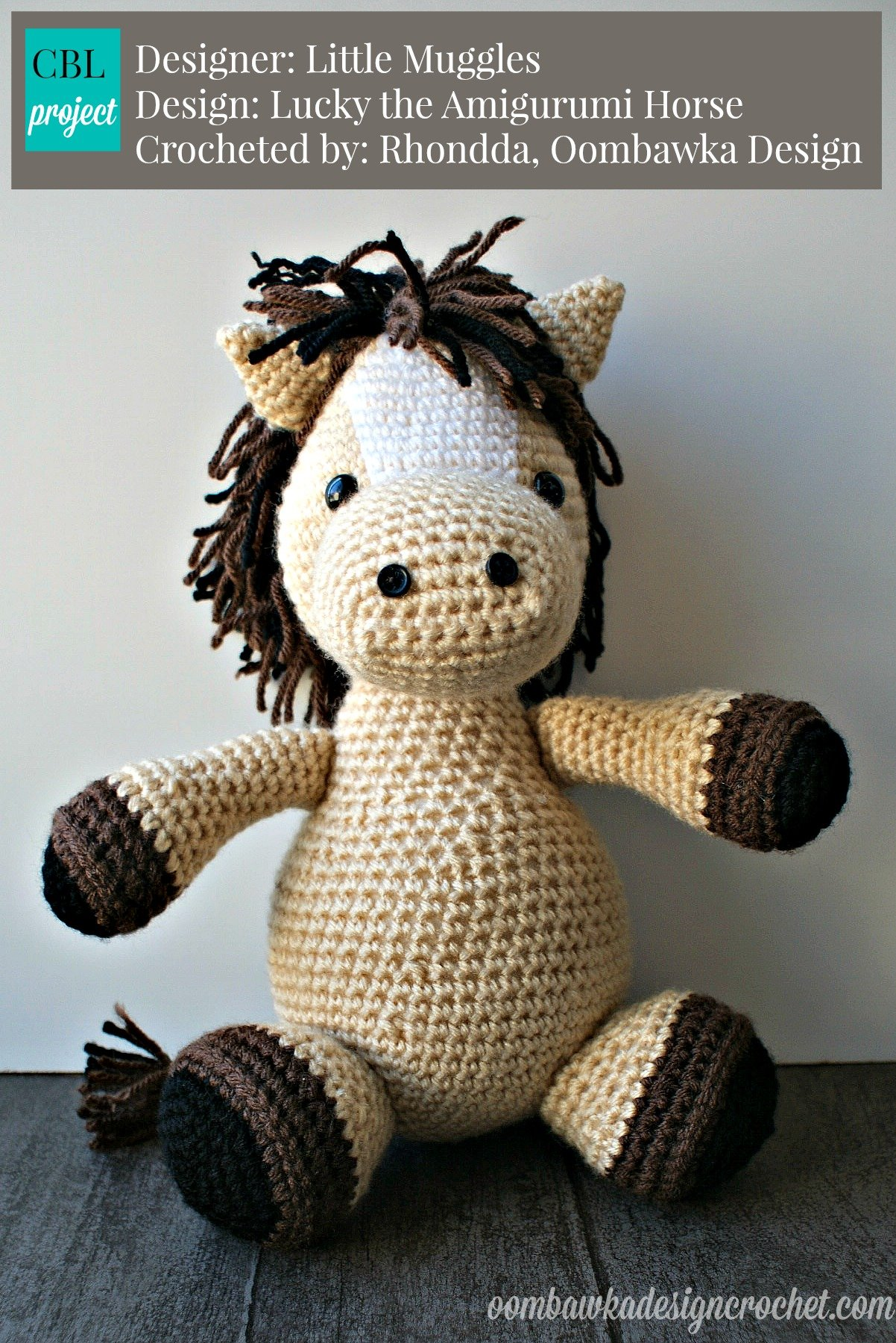 Free Crochet Pattern For Horse Hat : Lucky the Amigurumi Horse Oombawka Design Crochet