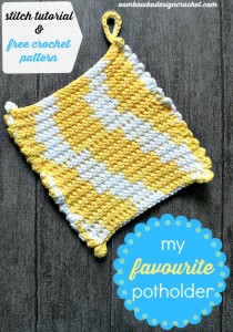 My Favorite Potholder Pattern Oombawka Design Crochet.
