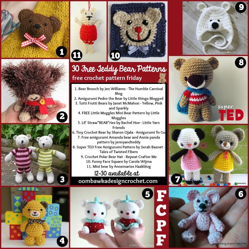 FCPF 30 Free Bear Patterns