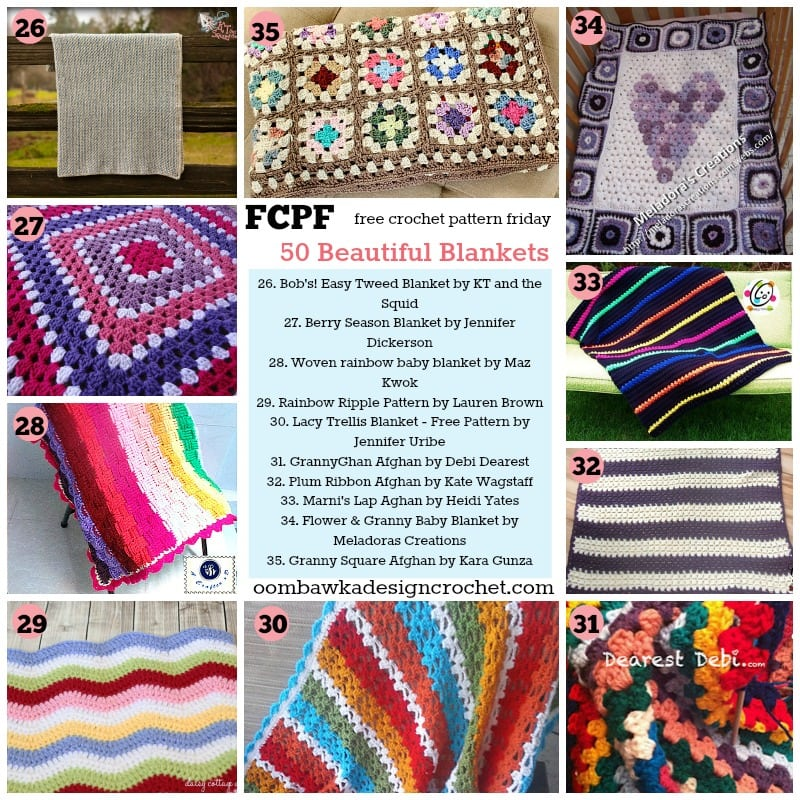 50 blankets free patterns