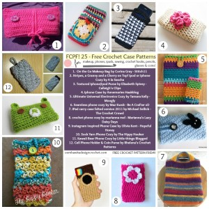 25 Crochet Case Patterns. Free Pattern Roundup. Oombawka Design Crochet.
