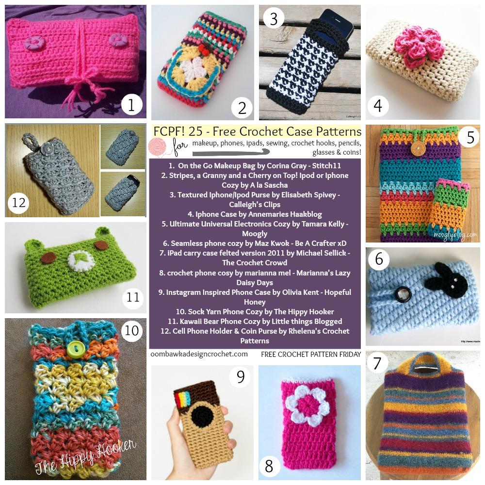 25 Free Crochet Case Patterns • Oombawka Design Crochet