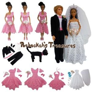 Crochet Barbie Wedding Set for Isabel