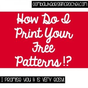 How Do I Print Your Free Patterns?