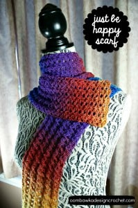 Just be Happy Scarf Pattern