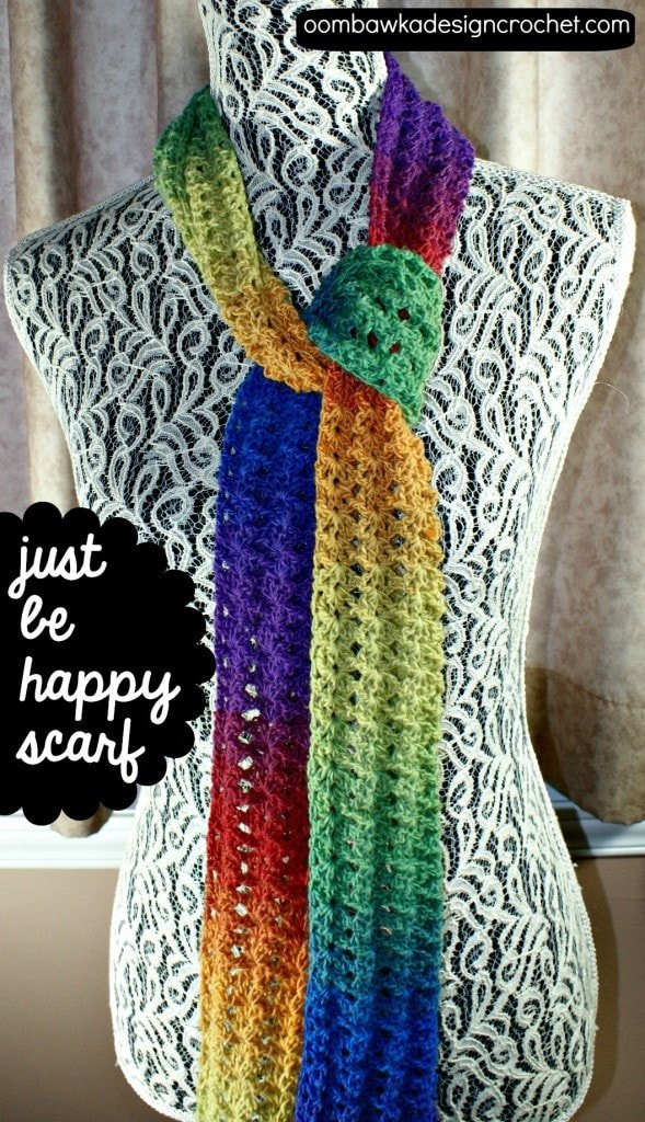 Just be Happy Scarf