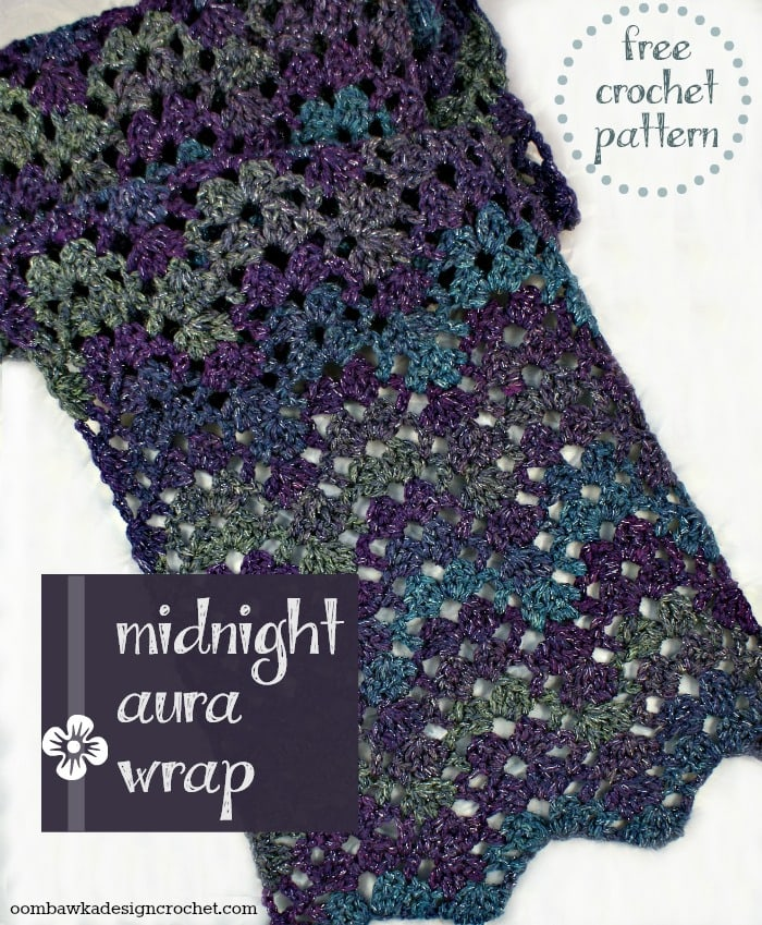 Midnight Aura Wrap Free Pattern Flat