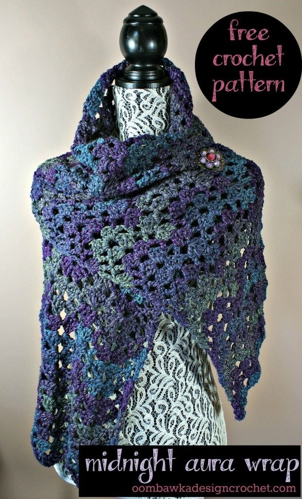 Midnight Aura Wrap pinned free patttern