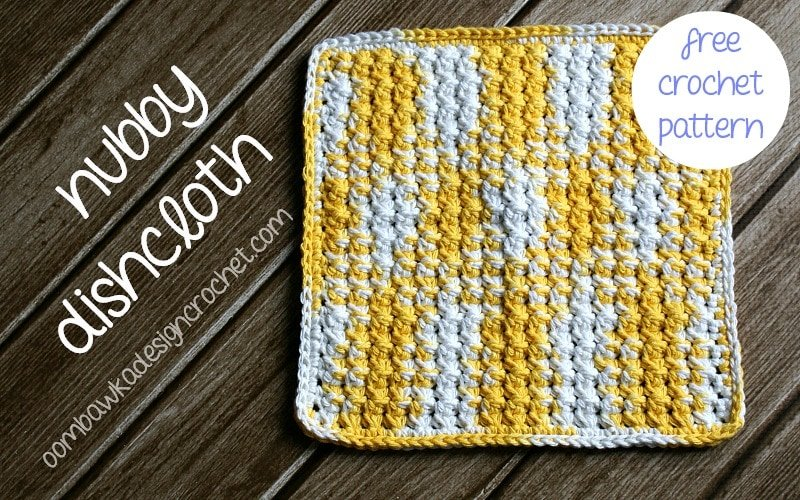nubby dishcloth free pattern