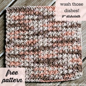 Wash Those Dishes Dishcloth Pattern. Crochet Tutorial. Oombawka Design Crochet.