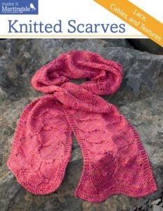 Knitted Scarves. Martingale. Book Review. Oombawka Design.