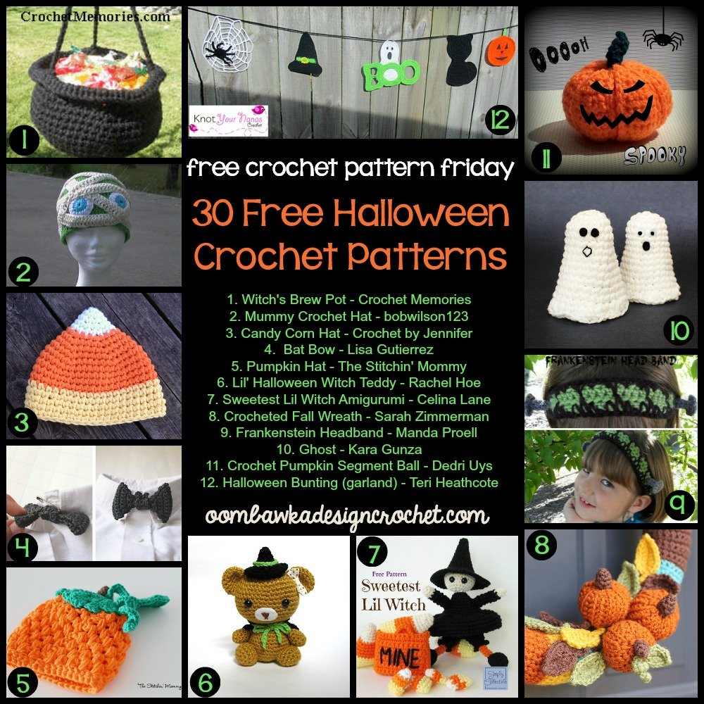 Free Crochet Hat Patterns For Halloween : 30 Free Halloween Crochet Patterns Oombawka Design Crochet