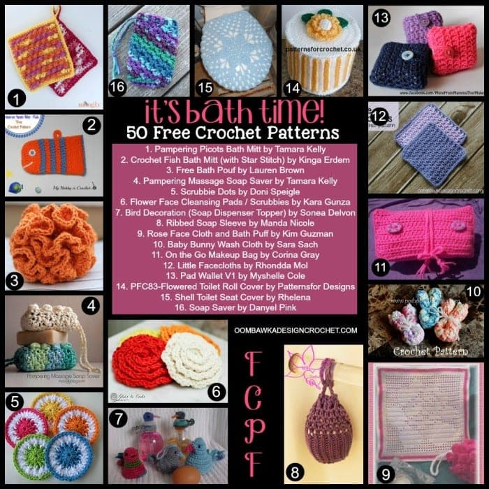 50 Free Crochet Patterns for the Bathroom