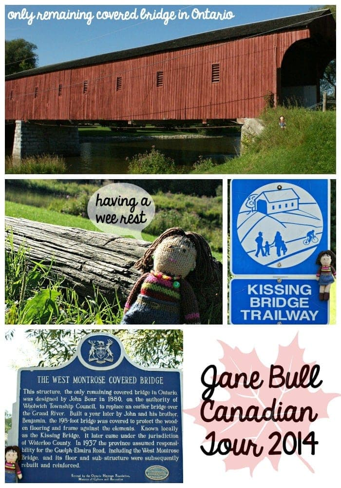 Jane at kissing bridge collage