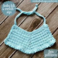 Crochet Baby Bib Pattern. Oombawka Design Crochet.