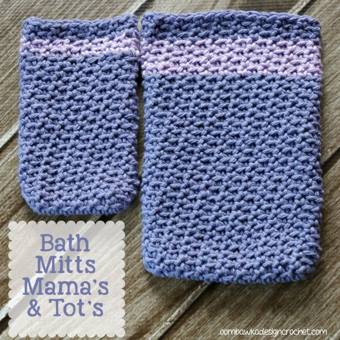 Bath Mitts - 2 sizes Oombawka Design Crochet