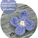 free crochet pattern dames rocket