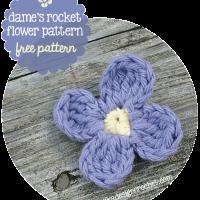 Dame's Rocket Flower Free Pattern