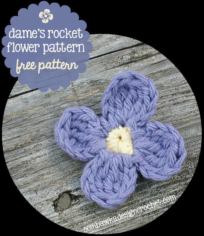 Dames Rocket Flower Free Pattern Oombawka Design Crochet