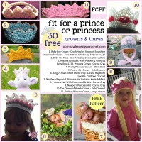 30 Crochet Crown and Tiara Patterns. Free Pattern Roundup. Oombawka Design Crochet.