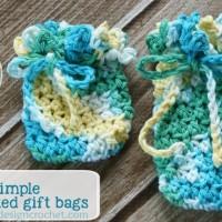 Crocheted Gift Bag Pattern. Oombawka Design Crochet.