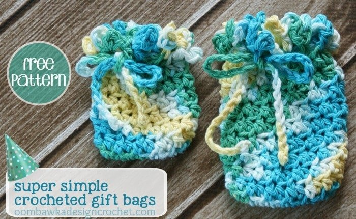 Free Pattern Super Simple Crocheted Gift Bags