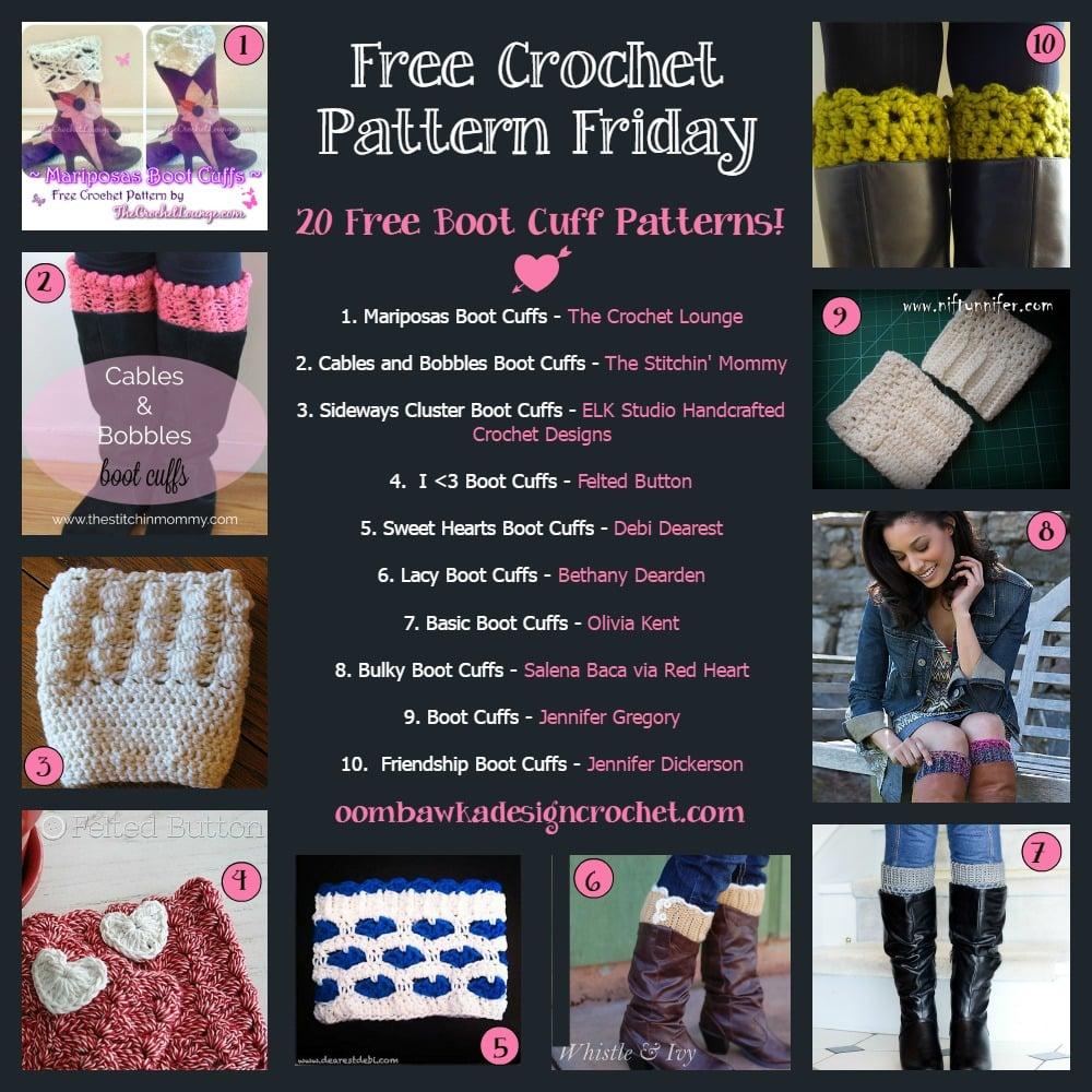 20 Free Boot Cuff Crochet Patterns