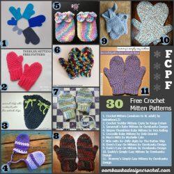 30 Crochet Mitten Patterns. Free Pattern Roundup. Oombawka Design Crochet.