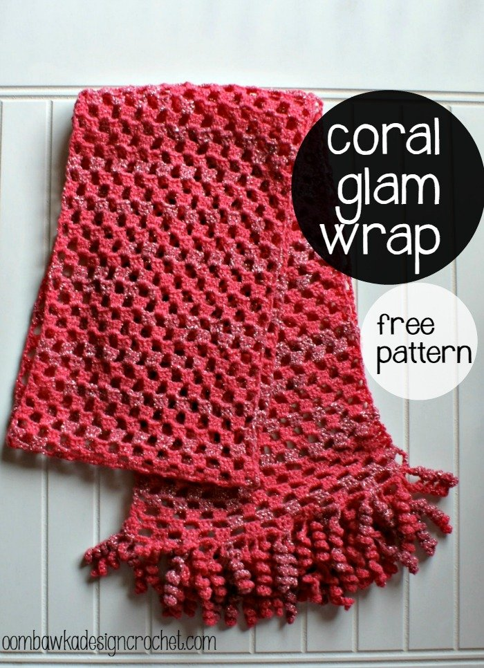 Coral Glam Wrap Pattern Oombawka Design Crochet