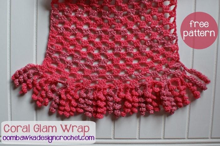 Free Pattern Coral Wrap