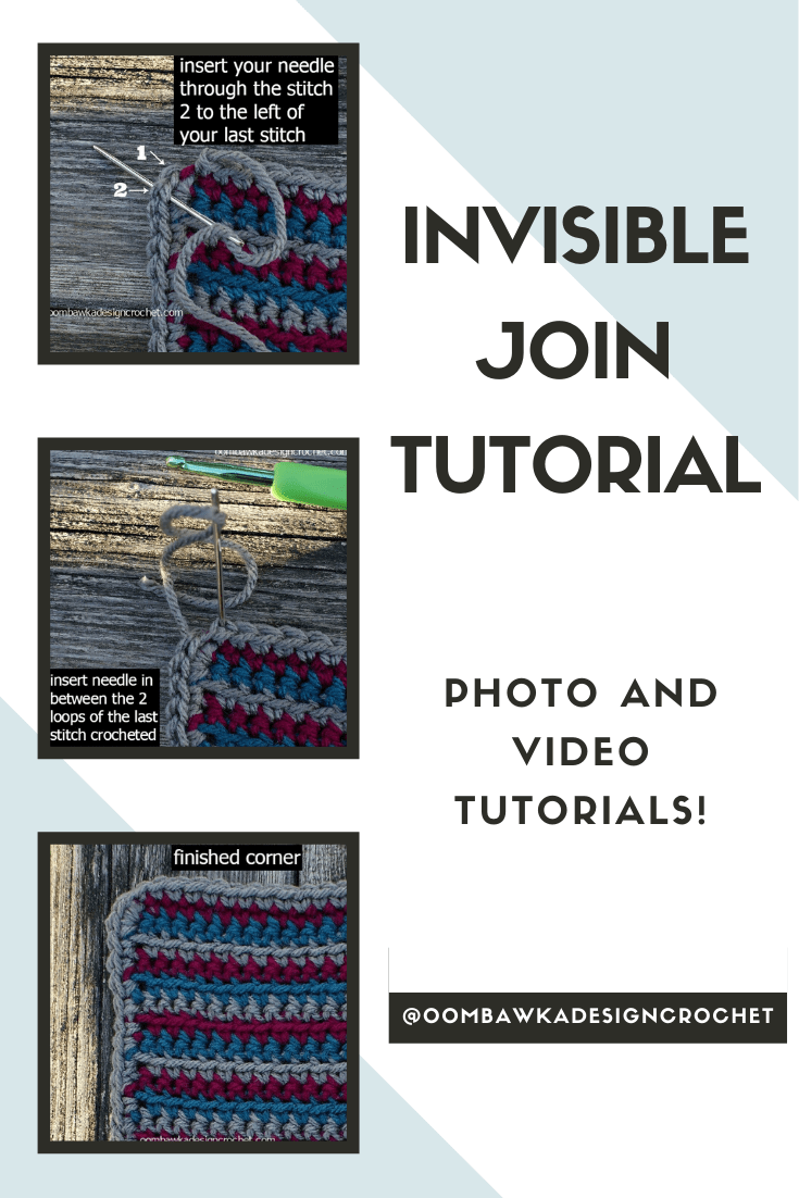 The Invisible Join is the best way to finish your projects when you are joining rounds.  If you want a nicely finished edge - or to make less obvious joins when working in rounds and changing colors - this is the joining technique you will want to try.