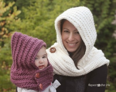 Hooded Crochet Cowl